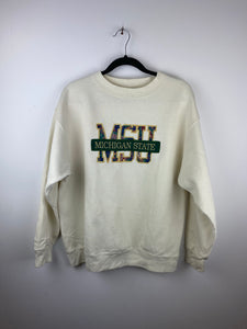 Embroidered Michigan State crewneck