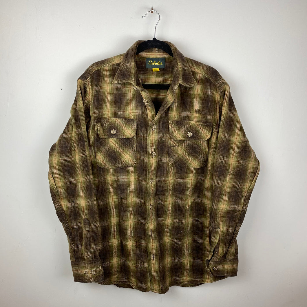90s heavy flannel shirt