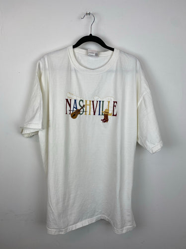 Vintage Embroidered Nashville T shirt - L