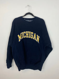Vintage Embroidered Michigan Crewneck - L/XL