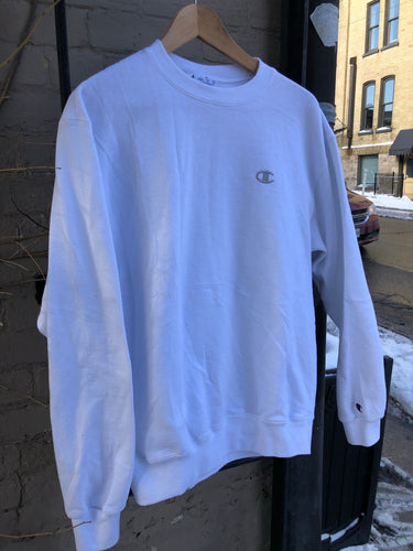 White Champion Crewneck