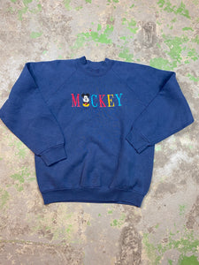 90s embroidered Mickey crewneck