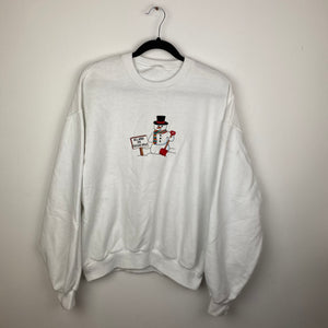 Embroidered Will work for freezer space crewneck