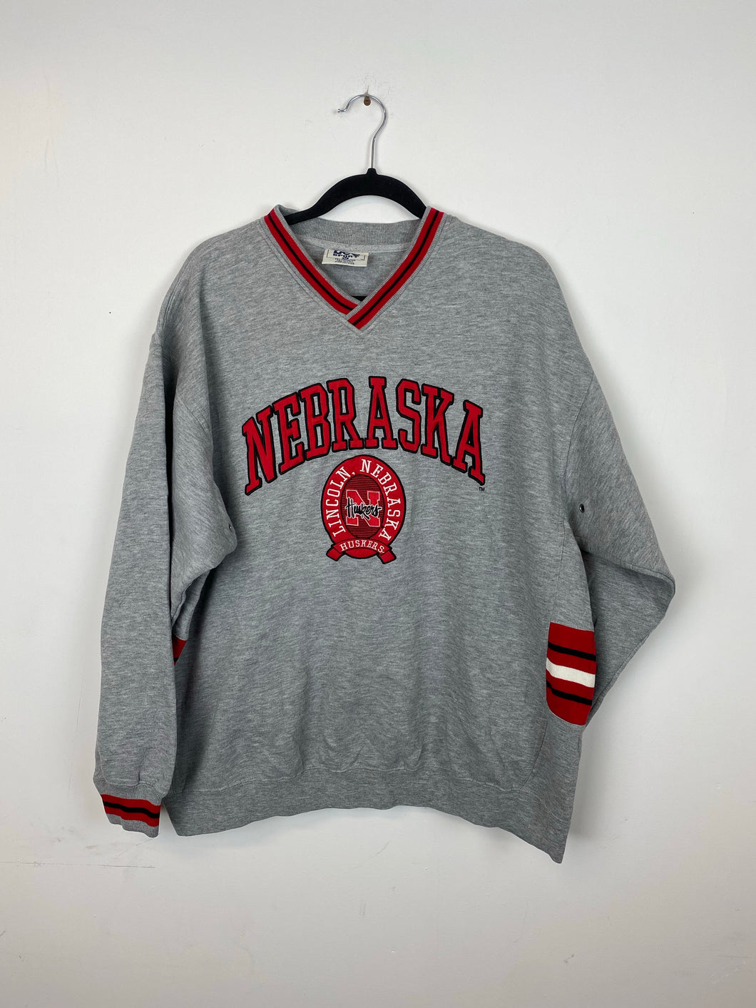 90s Nebraska v neck crewneck