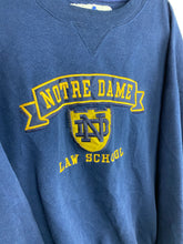 Load image into Gallery viewer, 90s embroidered Notre Dame crewneck