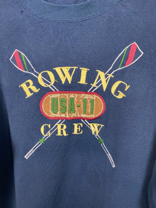 90s embroidered Rowing crew crewneck - XS/S