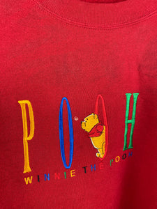 Embroidered Pooh crewneck