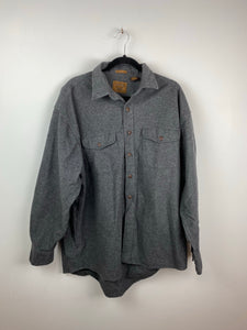 Grey Cotton button up