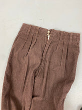 Load image into Gallery viewer, Brown high waisted corduroy pants
