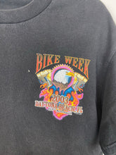 Load image into Gallery viewer, Front and back faded bike week t shirt