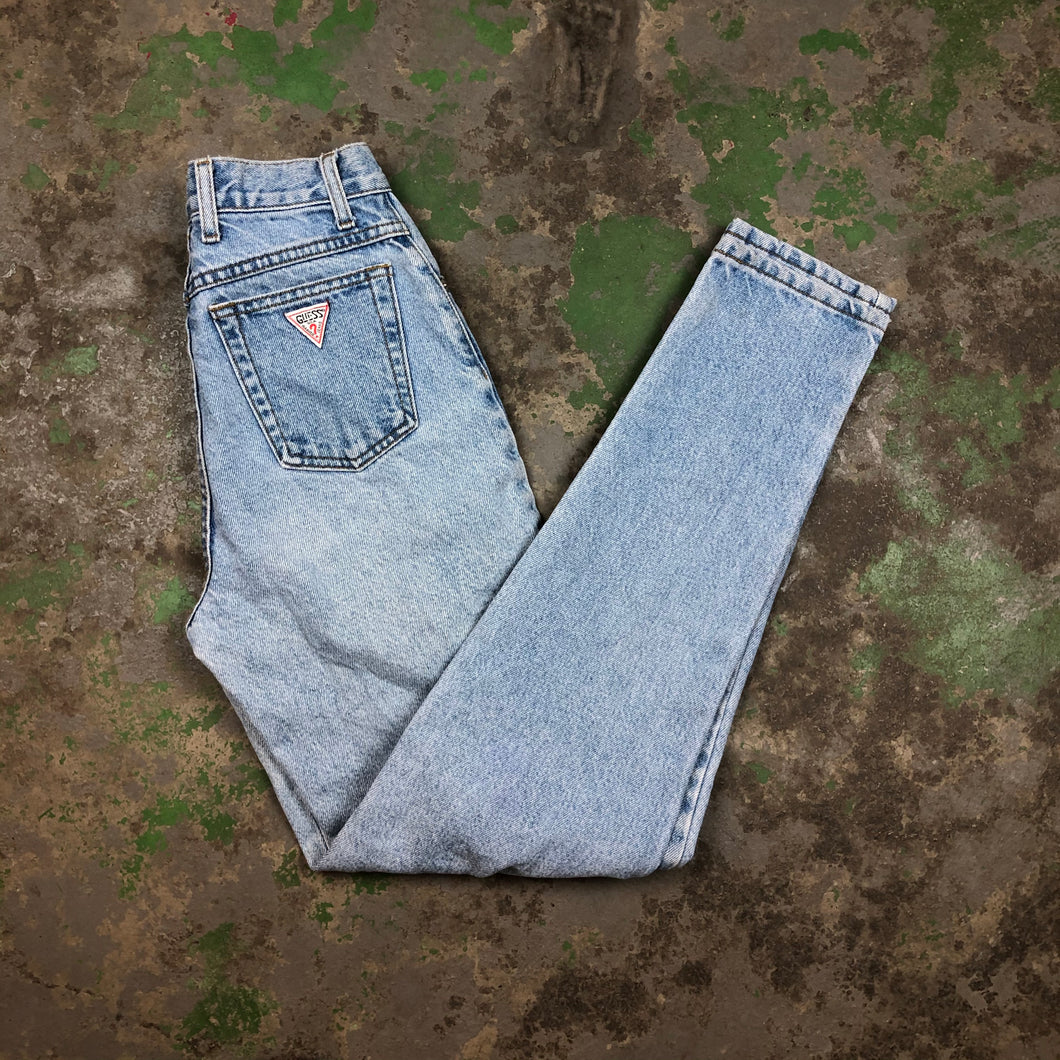High waisted skinny guess denim pants