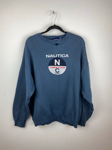 Vintage Nautica Competition embroidered crewneck