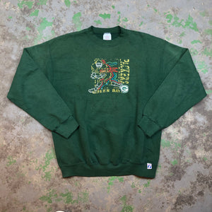 90s embroidered packers Crewneck