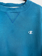 Load image into Gallery viewer, Teal champion crewneck