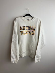Heavy weight Michigan volleyball crewneck