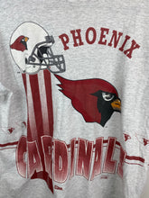 Load image into Gallery viewer, Front and back Phoenix Cardinals t shirt