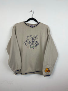 Embroidered Pooh & Tiger crewneck
