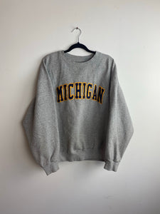 Heavy weight Michigan crewneck