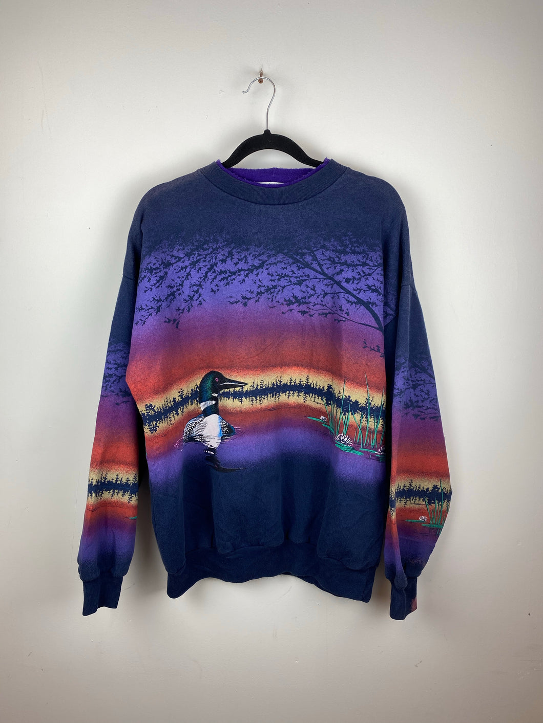 Vintage all over print crewneck