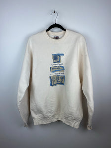 "90s "" A flower is a gift "" crewneck"