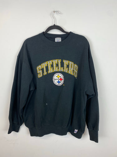 Vintage embroidered Steelers crewneck - M