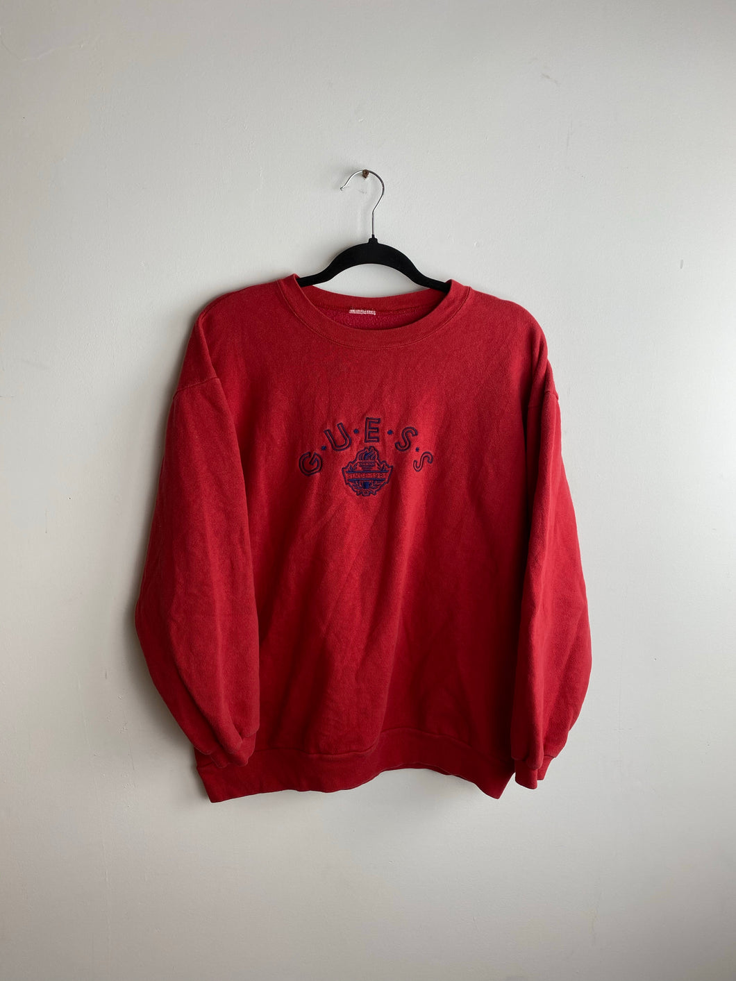 90s embroidered guess crewneck