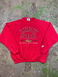 Embroidered Indy 500 crewneck