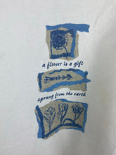 "Load image into Gallery viewer, 90s "" A flower is a gift "" crewneck"