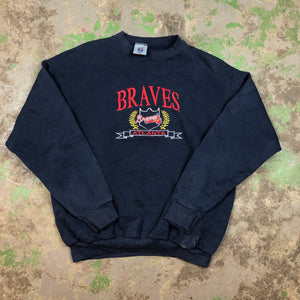 Embroidered Braves Crewneck