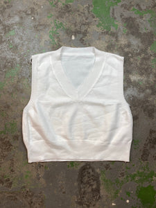 White fitted vest