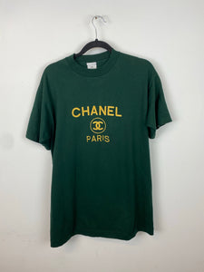 Vintage embroidered Chanel t shirt - S/M