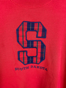 Mockneck embroidered South Dakota crewneck