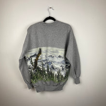 Load image into Gallery viewer, 90s front and back hawk crewneck