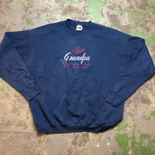 Load image into Gallery viewer, Embroidered best grandpa Crewneck