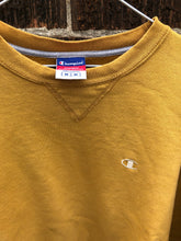 Load image into Gallery viewer, Mustard Champion Crewneck Medium
