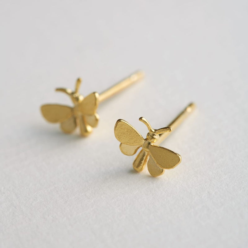 Alex Monroe Butterfly Studs - Gold