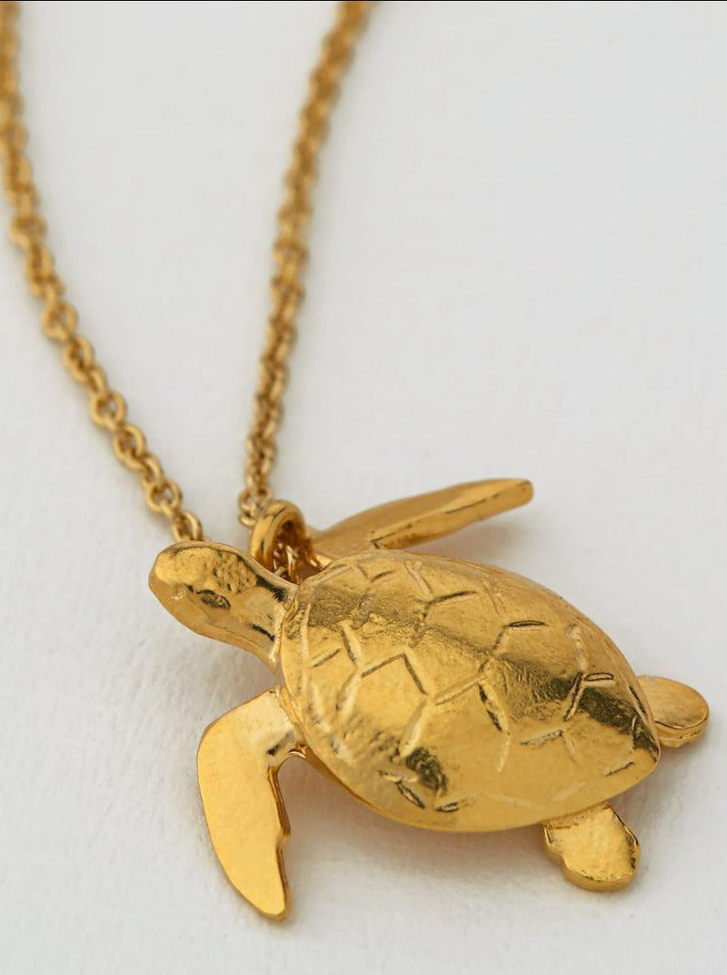 Alex Monroe Sea Turtle Necklace - Gold