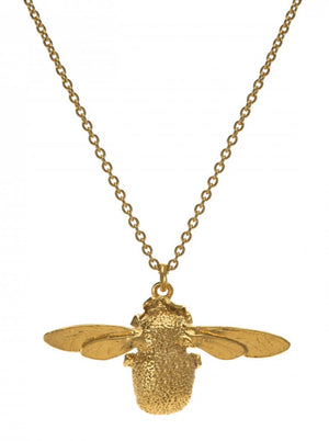 Alex Monroe Bumble Bee Necklace in Gold