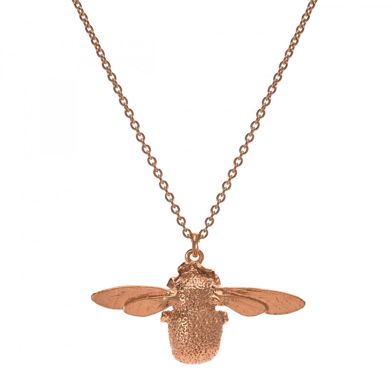 Alex Monroe Bumble Bee Necklace in Rose Gold