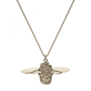 Alex Monroe Bumble Bee Necklace in Sterling Silver