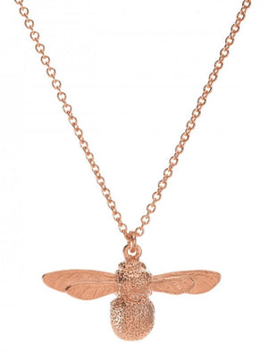 Alex Monroe Baby Bee Necklace in Rose Gold