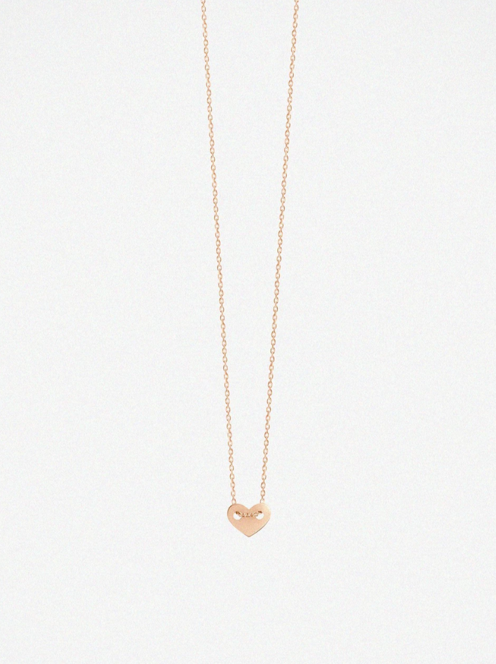 Vanrycke Angie Full Heart Rose Gold Necklace