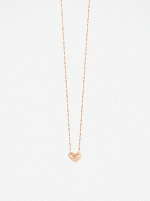 Van Rycke Angie Full Heart Rose Gold Necklace