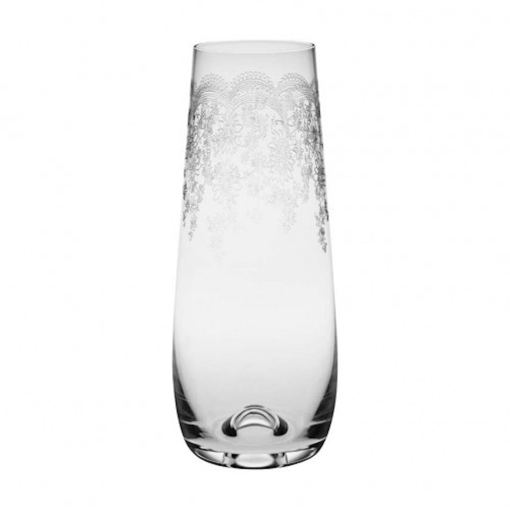Floral Engraved Stemless Champagne Glasses