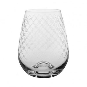 Francalia Stemless Fishnet Wineglasses
