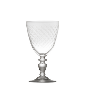Fishnet Engraved Wine Glass