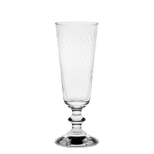 Fishnet Engraved Champagne Glasses