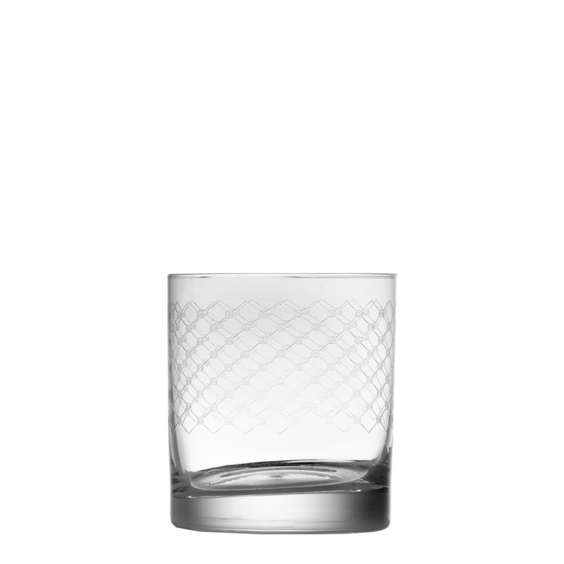 Fishnet Engraved Short Tumbler