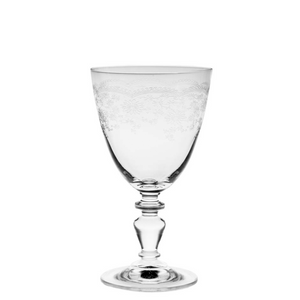 Floral Engraved Wine Glass