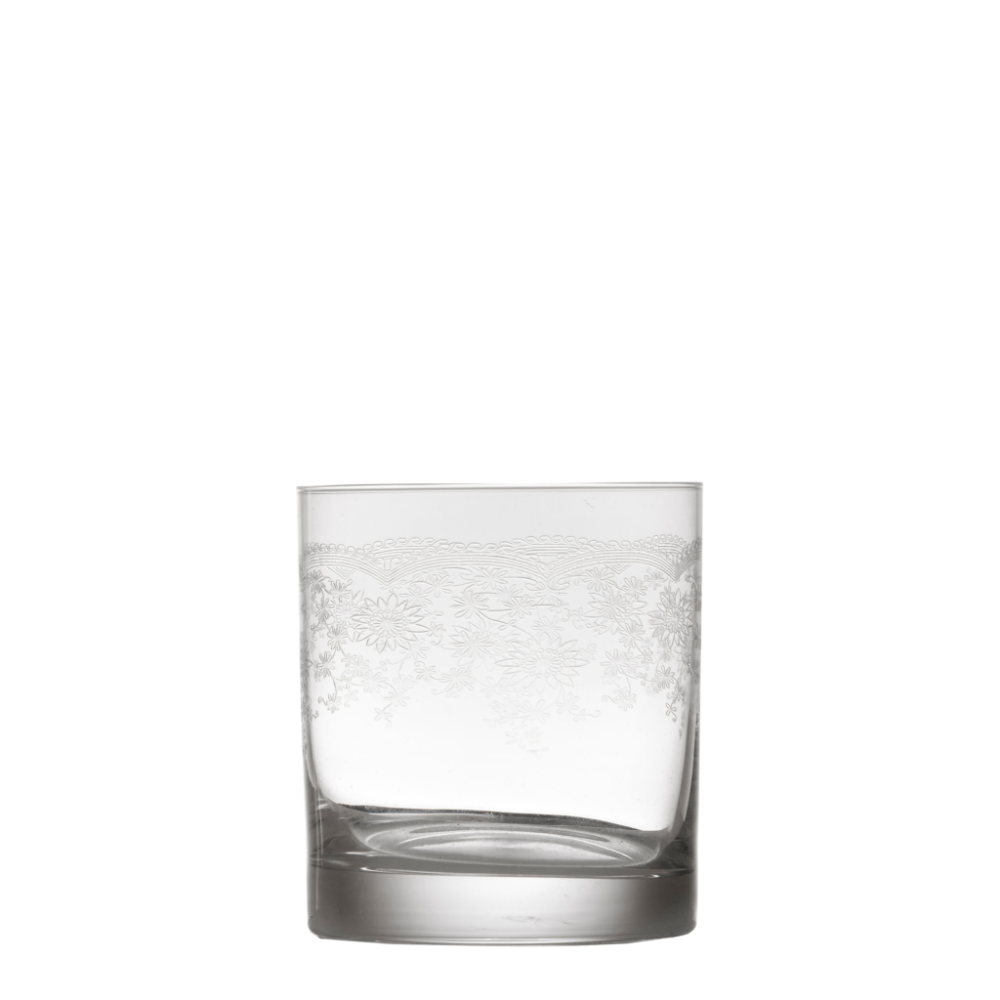 Floral Engraved Short Tumbler